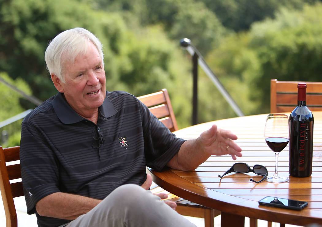 The Vegas Golden Knights owner Bill Foley during an interview at his Chalk Hill Estate Vineyards and Winery in Healdsburg, Calif., on Wednesday, Aug. 2, 2017. Bizuayehu Tesfaye Las Vegas Review-Jo ...