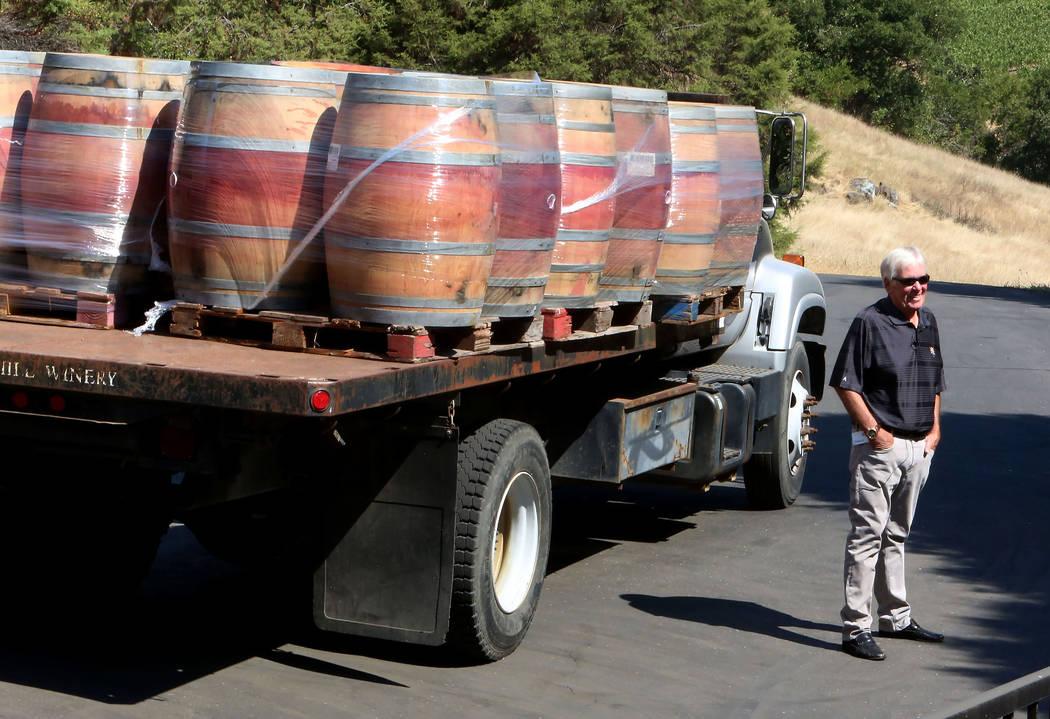 The Vegas Golden Knights owner Bill Foley at his Chalk Hill Estate Vineyards and Winery in Healdsburg, Calif., on Wednesday, Aug. 2, 2017. Bizuayehu Tesfaye Las Vegas Review-Journal @bizutesfaye