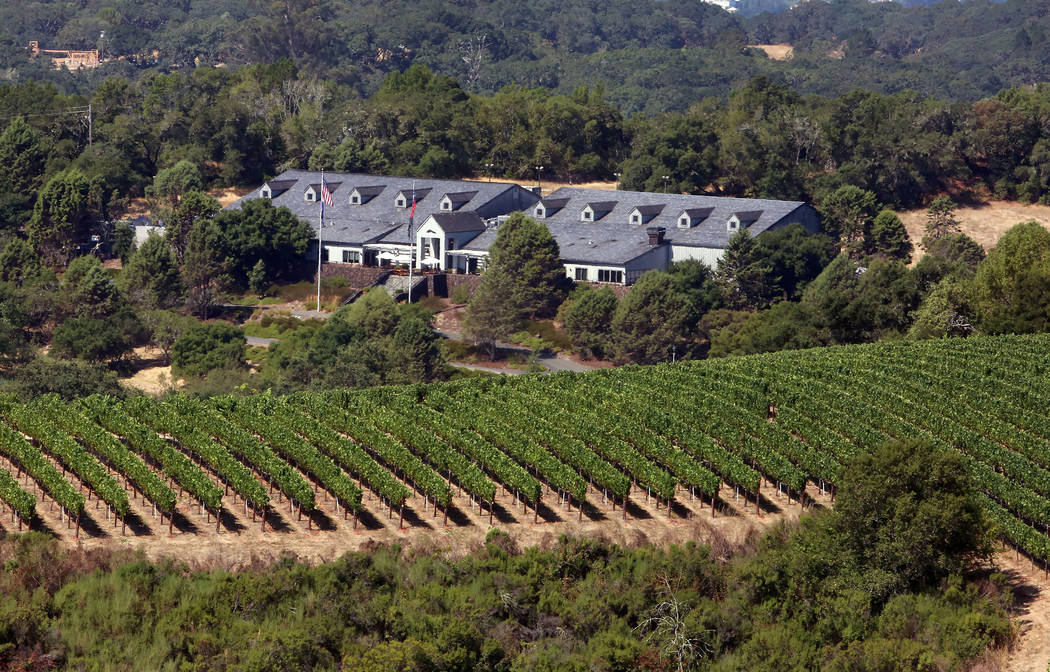 Chalk Hill Estate Vineyards and Winery, owned by the Vegas Golden Knights owner Bill Foley, in Healdsburg, Calif., on Wednesday, Aug. 2, 2017. Bizuayehu Tesfaye Las Vegas Review-Journal @bizutesfaye