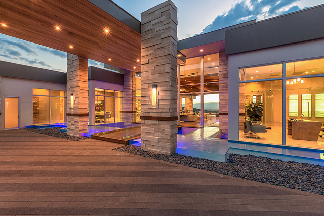 """""""This has to be the coolest pool in the city,"""" said Daniel Coletti, president of Sun West Custom Homes. (David Reisman/Real Estate Millions)"""