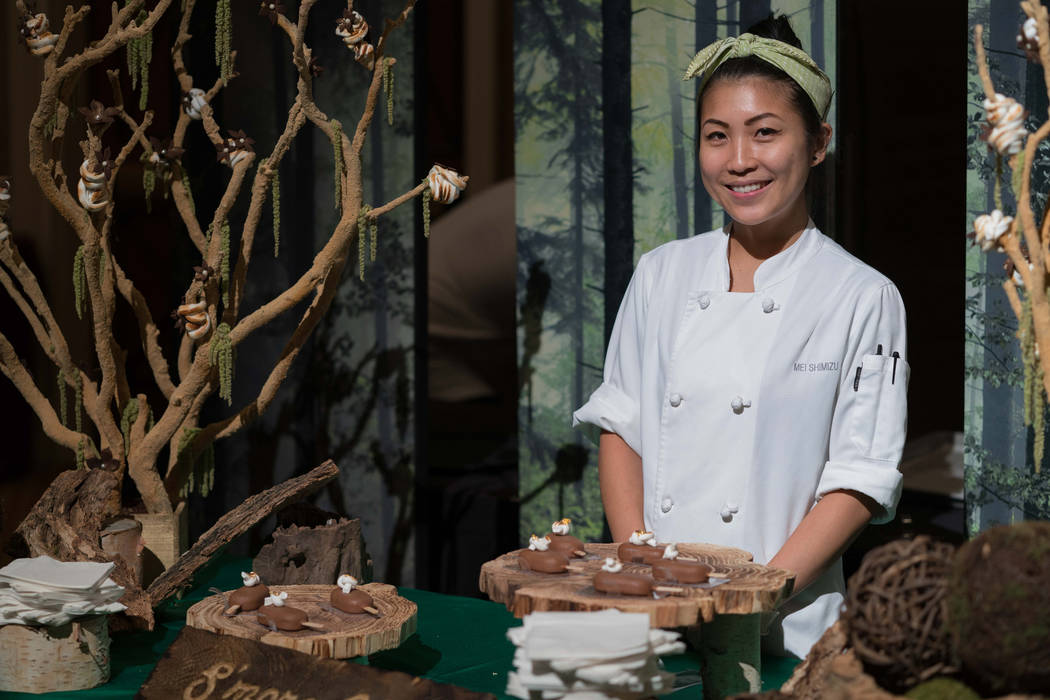 Aria pastry chef Mei Shimizu.  Vox Solid Communications