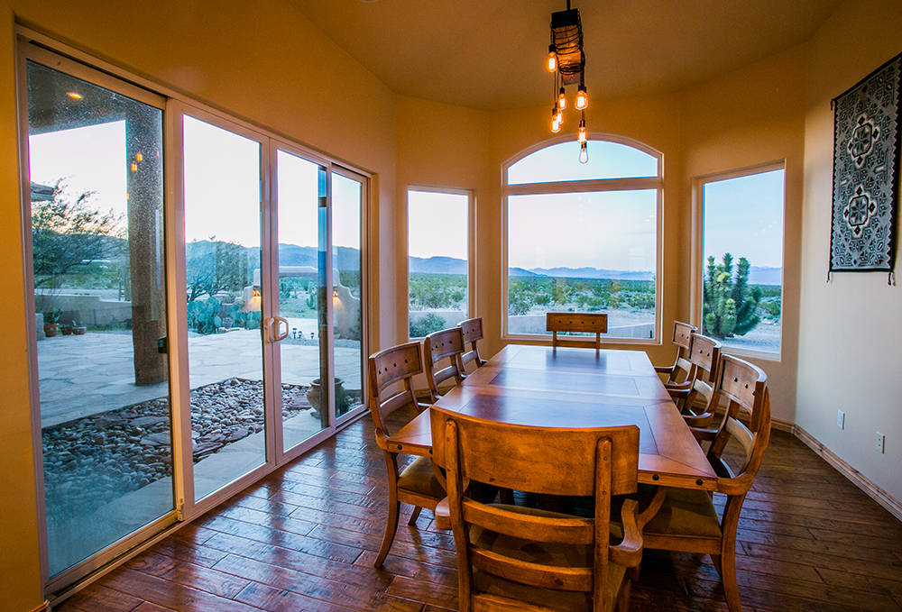 The kitchen at the Bunkhouse has lots of windows to take in the desert views. (Windermere Prestige Properties)