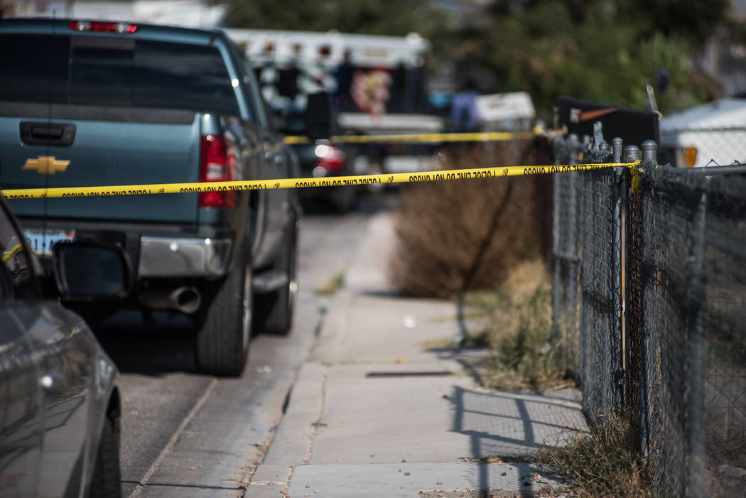 A women was shot dead in her home on Wednesday, Sep. 6, 2017, in North Las Vegas. Morgan Lieberman Las Vegas Review-Journal