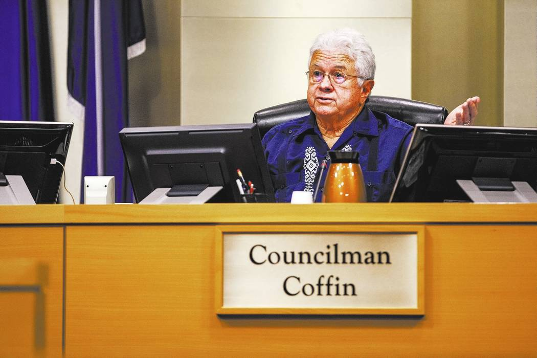 Councilman Bob Coffin.  Patrick Connolly Las Vegas Review-Journal @PConnPie