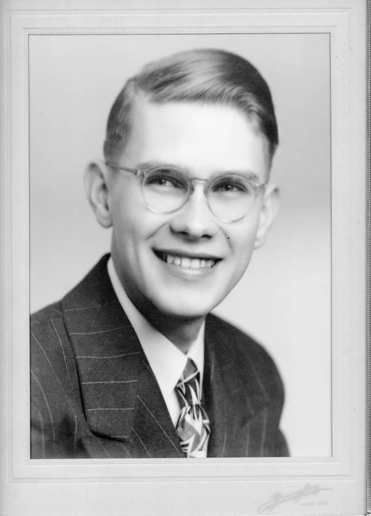 Arthur Nelson's high school graduation photo.