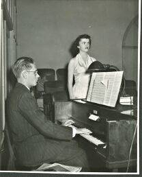 A photo of Arthur Nelson from the 1950s playing the piano. (Betsy Ann Fiore)