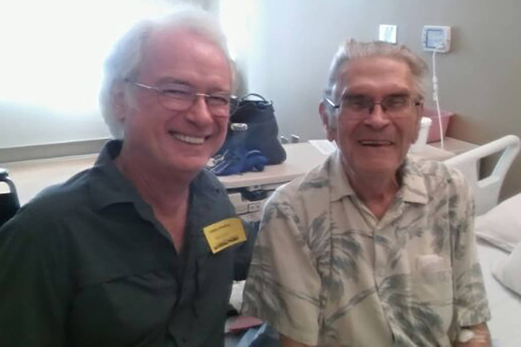 Arthur Nelson (right) with his friend Timothy Cooper (left) this year.