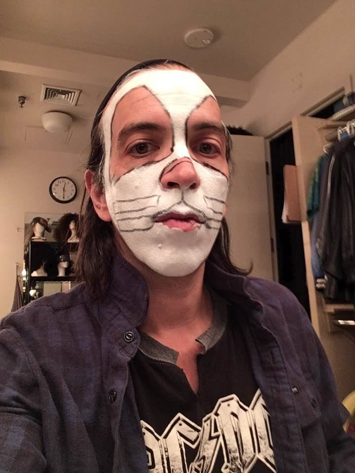 "Mike ""Beans"" Benigno has mastered the Peter Criss makeup method in just 12 minutes. (Mike Benigno)"