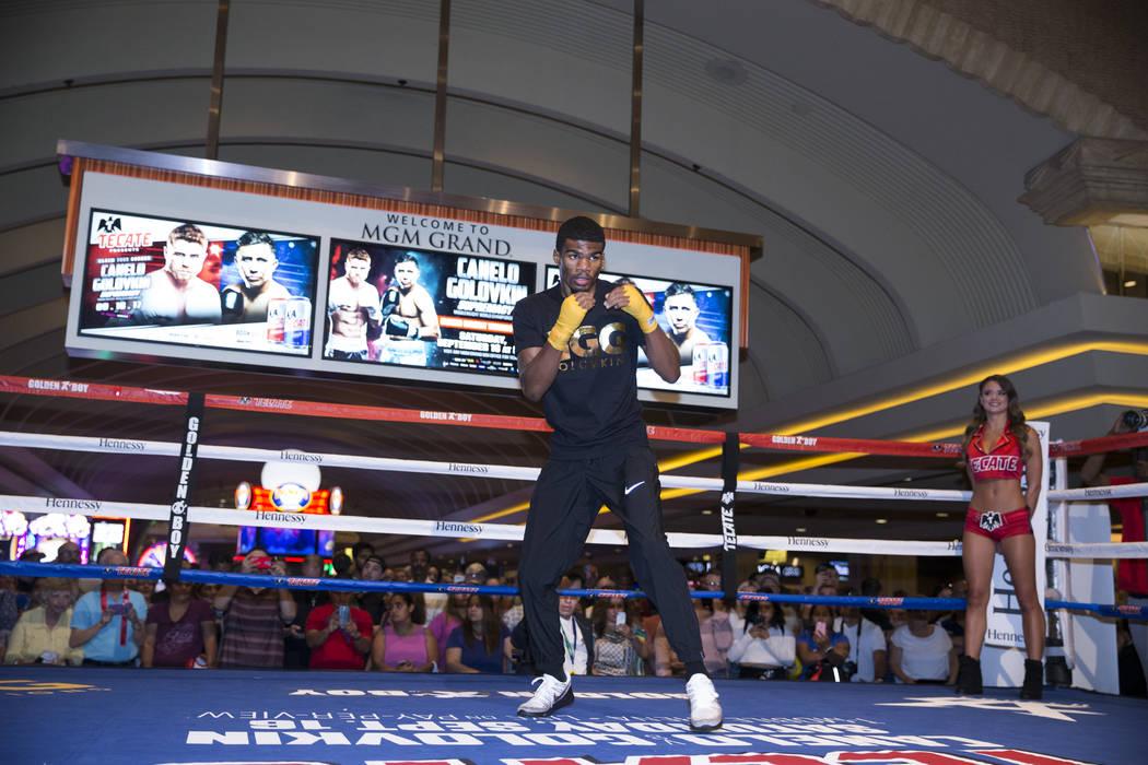 Ryan Martin during an open workout at the MGM Grand hotel-casino in Las Vegas, Wednesday, Sept. 13, 2017. Erik Verduzco Las Vegas Review-Journal @Erik_Verduzco