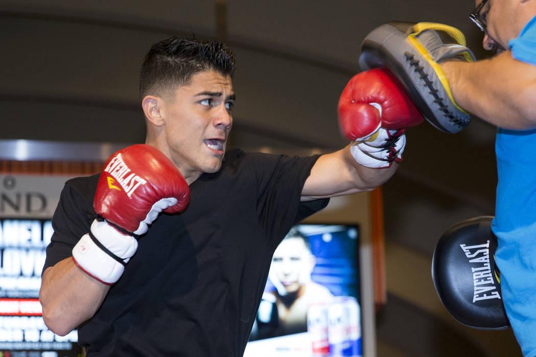 Joseph Diaz Jr. during an open workout at the MGM Grand hotel-casino in Las Vegas, Wednesday, Sept. 13, 2017. Erik Verduzco Las Vegas Review-Journal @Erik_Verduzco