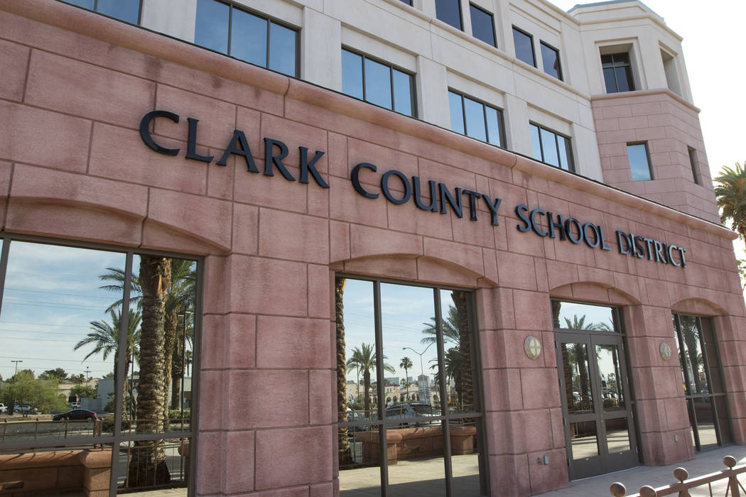 Clark County School District administration building located at 5100 West Sahara Ave. in Las Vegas on Wednesday, June 7, 2017. (Richard Brian Las Vegas Review-Journal @vegasphotograph)