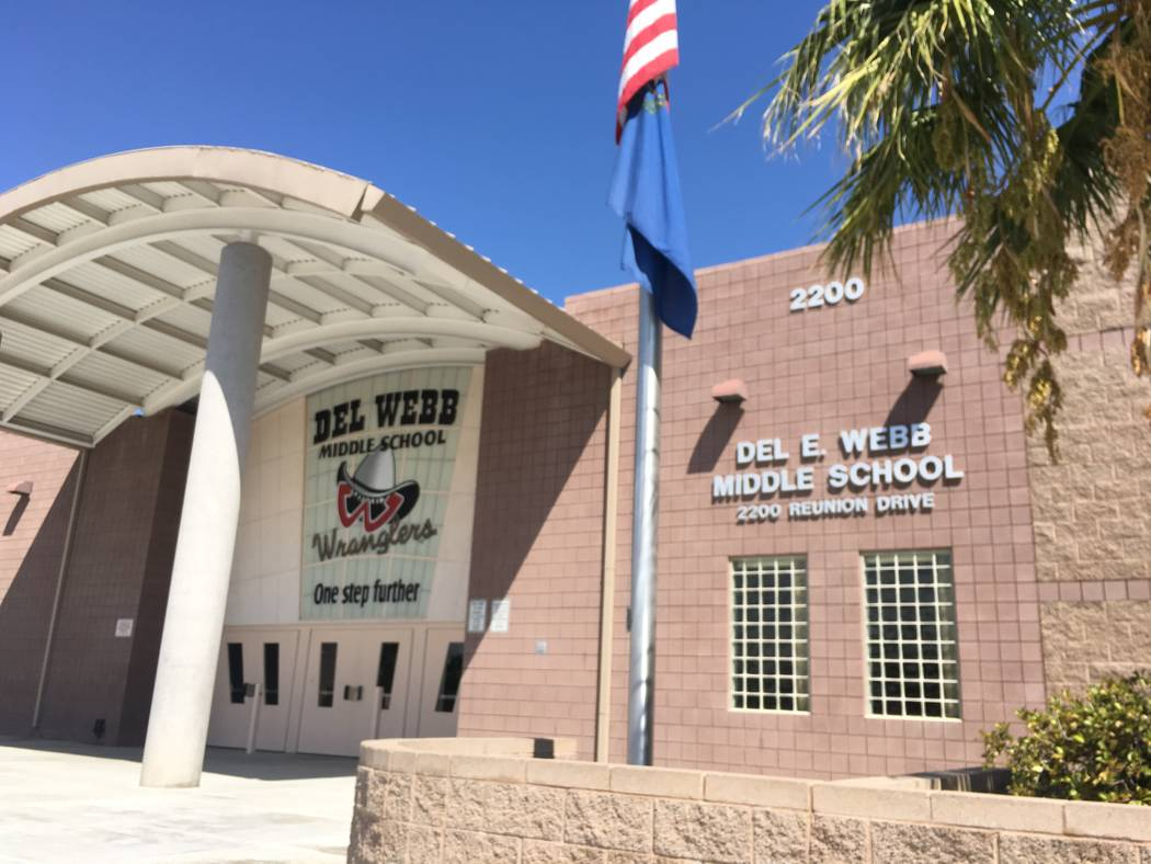 Del Webb Middle School could be facing a second round of cuts totaling nearly $90,000, according to the school's principal, Paula Naegle. (Diego Mendoza-Moyers/View)