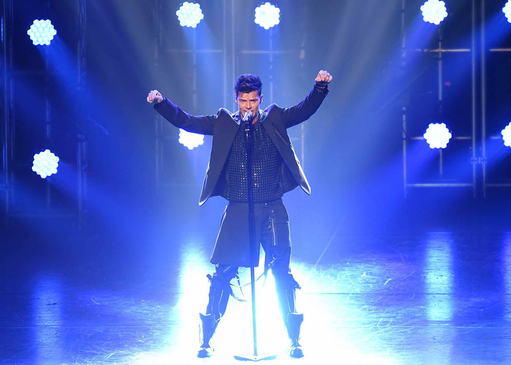 """Ricky Martin's """"All In"""" residency show returns this weekend to the Park Theater at the Monte Carlo (Denise Truscello)"""