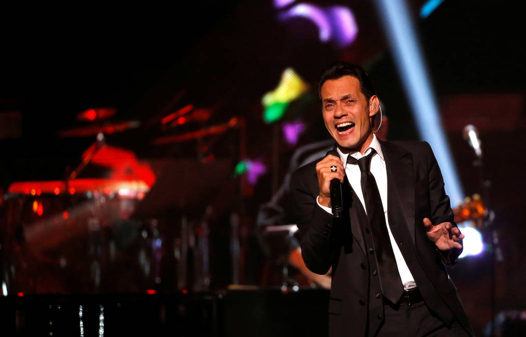 Recording artist Marc Anthony performs after accepting the Latin Recording Academy Person of the Year award in Las Vegas, Nevada U.S., November 16, 2016.   REUTERS/Mario Anzuoni - D1BEUNHZBPAA