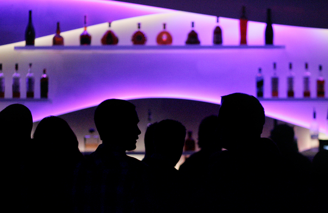 Club goers crowd the bar at the Ghostbar nightclub at the Palms hotel-casino in Las Vegas, Sunday, Feb. 13, 2011. (John Locher/Las Vegas Review-Journal)