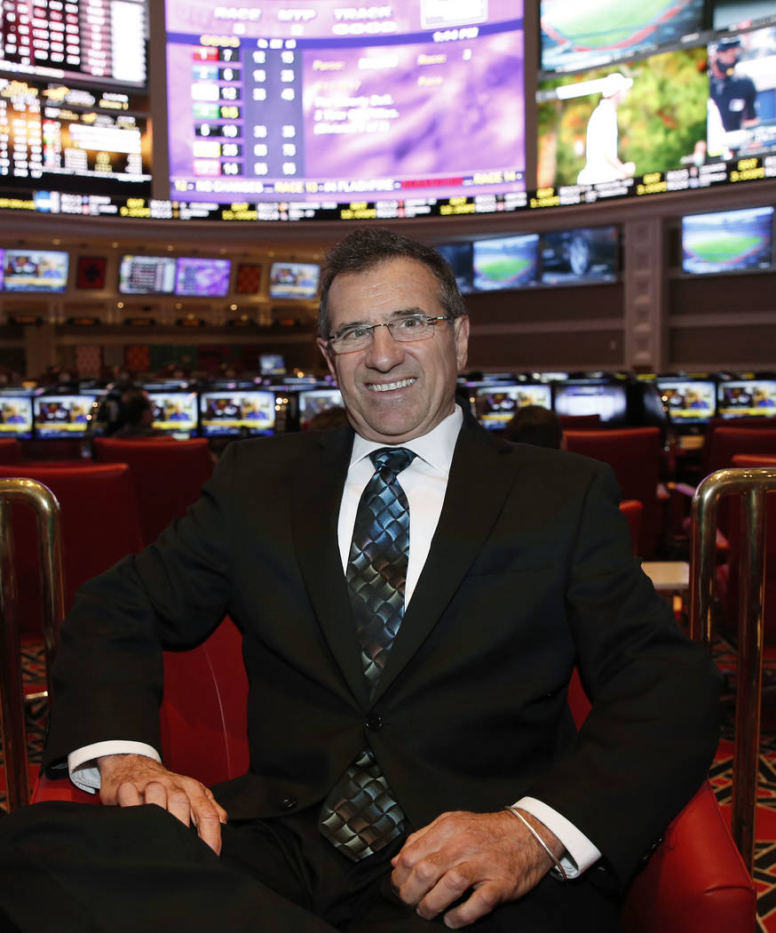 Johnny Avello, Wynn sports book director, at the new sports book on Wednesday Sept. 13, 2017, in Las Vegas.  Bizuayehu Tesfaye Las Vegas Review-Journal @bizutesfaye