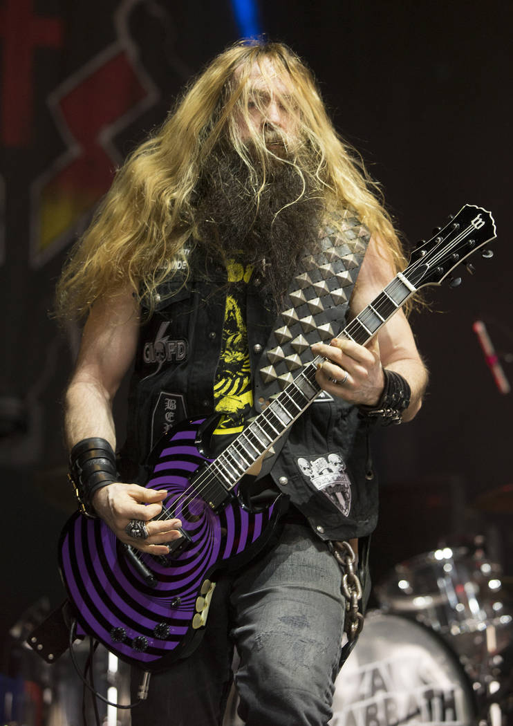 Zakk Wylde as Zakk Sabbath performs the music of Black Sabbath during the MMRBQ at the BB&T Pavilion on Saturday, May 20, 2017, in Camden, N.J. (Photo by Owen Sweeney/Invision/AP)