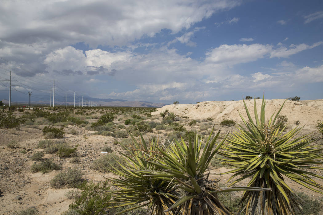 Clouds form over Tule Springs Fossil Beds National Monument in Las Vegas on Friday, Sept. 8, 2017. Richard Brian Las Vegas Review-Journal @vegasphotograph