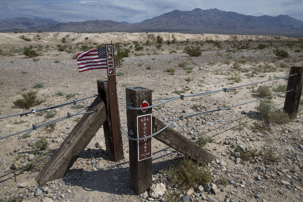 A pedestrian entrance to Tule Springs Fossil Beds National Monument in Las Vegas on Friday, Sept. 8, 2017. Richard Brian Las Vegas Review-Journal @vegasphotograph