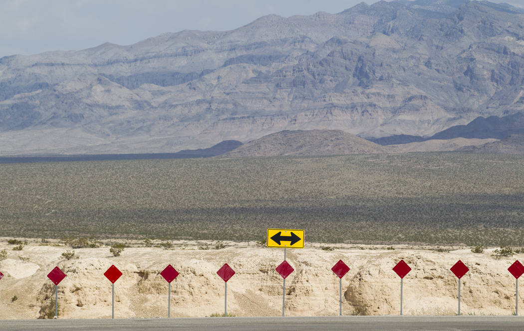A view looking north across Tule Springs Fossil Beds National Monument as seen from Durango Drive and Moccasin Road in Las Vegas on Friday, Sept. 8, 2017. Richard Brian Las Vegas Review-Journal @v ...