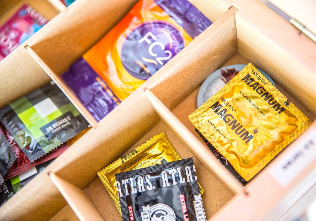 Condoms at Toyboxx on Wednesday, September 6, 2017, in Las Vegas. Benjamin Hager Las Vegas Review-Journal @benjaminhphoto