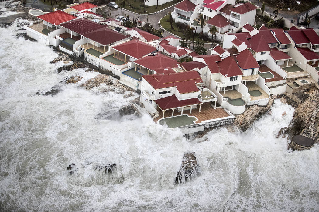 Few homes remained intact in the aftermath of Hurricane Irma, in St. Maarten. Irma cut a path of devastation across the northern Caribbean, leaving thousands homeless after destroying buildings an ...