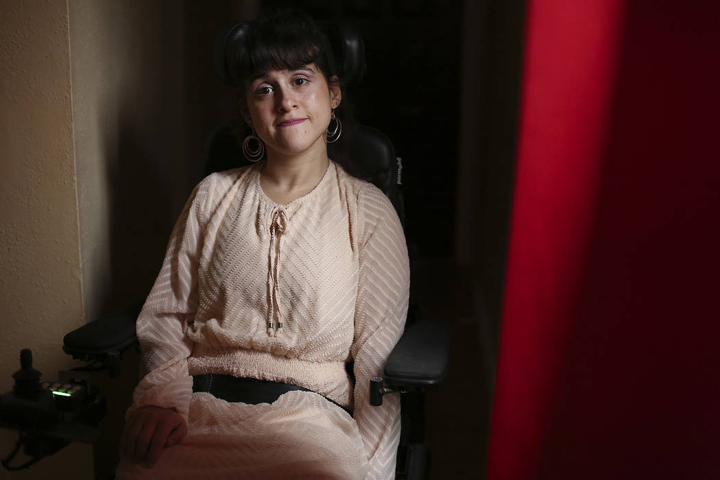 Sharona Dagani at her home in San Antonio, Texas on Sunday, March 12, 2017. The 29-year-old Dagani, born with cerebral palsy, is one of hundreds of former clients of jailed estate lawyer Robert Gr ...