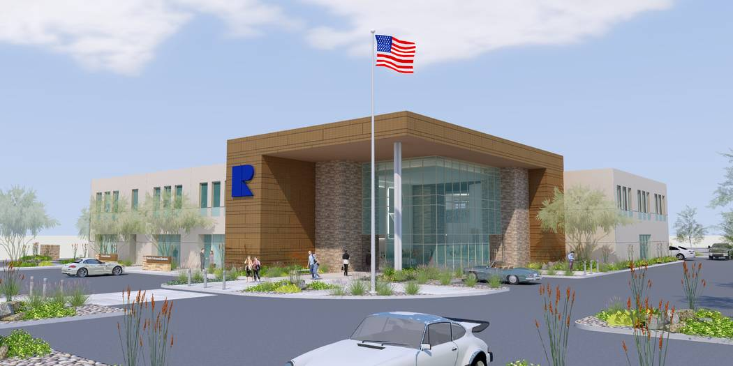 The new Greater Las Vegas Association of Realtors headquarters will be near the Rainbow Boulevard and the 215 Beltway. (Greater Las Vegas Association of Realtors)