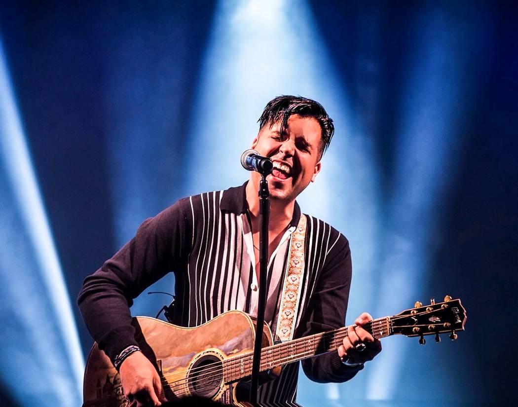 Singer Frankie Moreno. (Benjamin Hager)