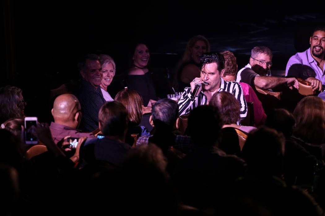 Frankie Moreno plays next to fans at the Suncoast Showroom in Las Vegas, Saturday, Sept. 9, 2017. Joel Angel Juarez Las Vegas Review-Journal @jajuarezphoto