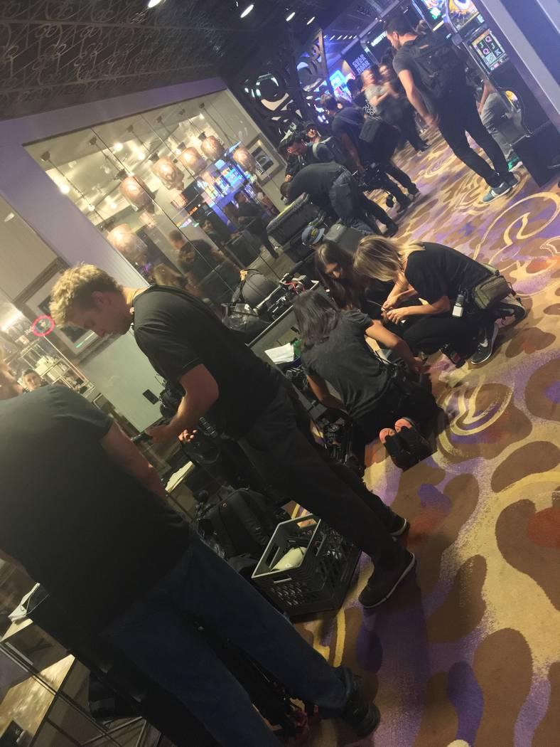 "Ellen DeGeneres's film crew packs up after recording a segment from ""Magic Mike Live"" at Hard Rock Hotel on Thursday, Sept. 7, 2017. (John Katsilometes/Las Vegas Review-Journal). @JohnnyKats"