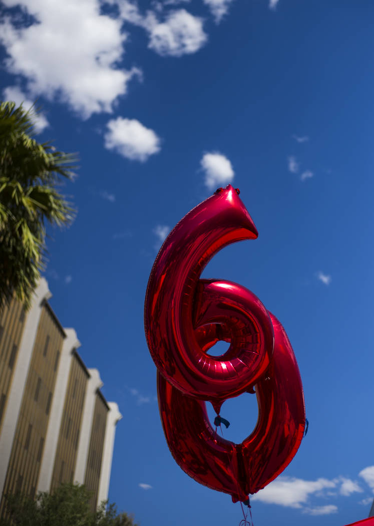 Balloons during an event marking UNLV's 60th birthday at Pida Plaza on the school's campus in Las Vegas on Tuesday, Sept. 12, 2017. Chase Stevens Las Vegas Review-Journal @csstevensphoto