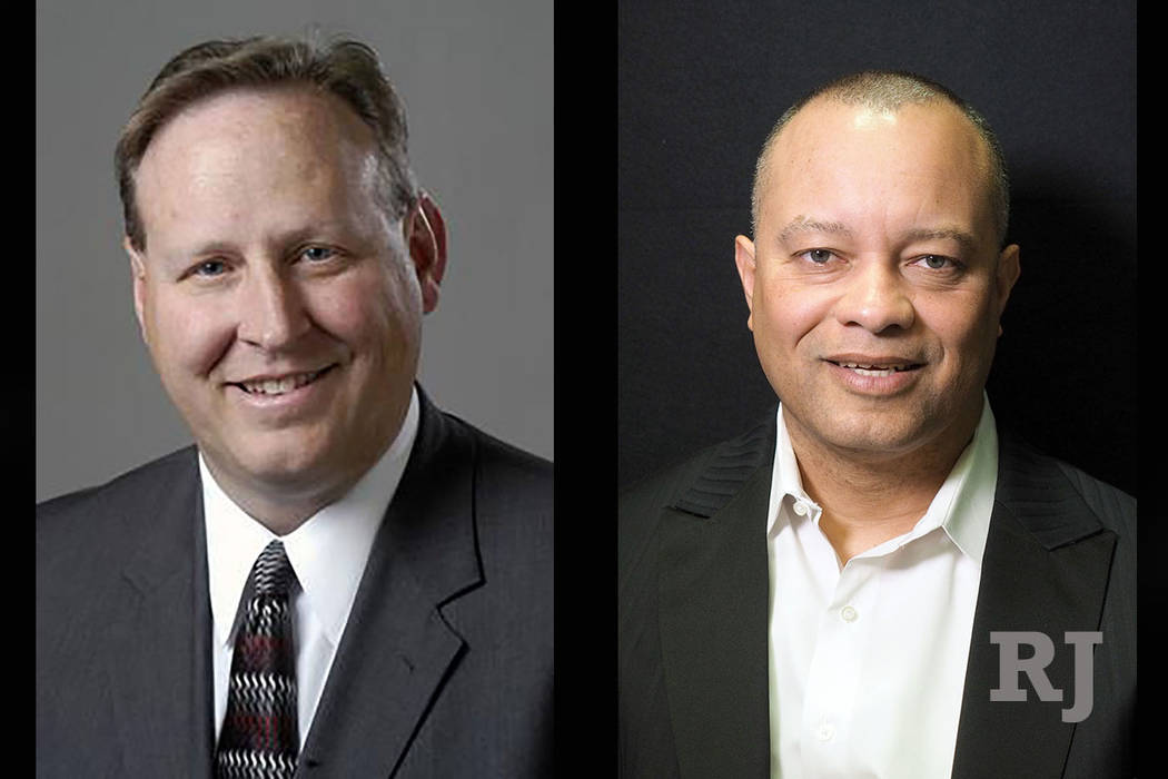 Judge Bryce Duckworth, left and Steve Sanson, right. (Las Vegas Review-Journal)