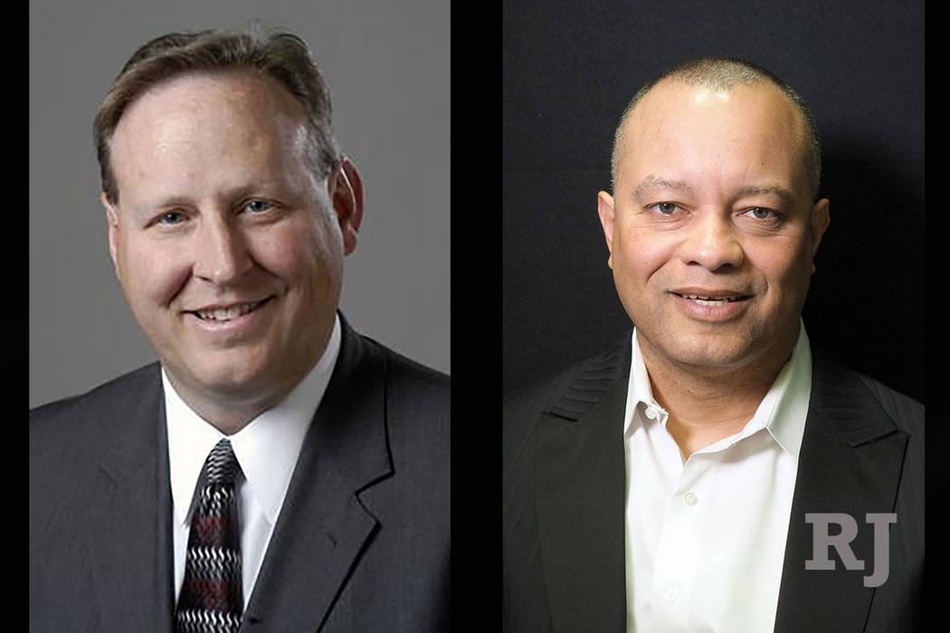 Judge Bryce Duckworth, left and Steve Sanson, right. (Las Vegas Review-Journal)