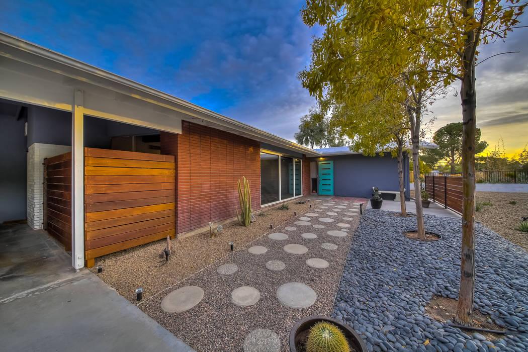 Joe Montesa  Creative Tag Studios Realtor Hayden Ross renovated this 1960s-era home on Kenny Way, near Rancho Drive and Charleston Boulevard.