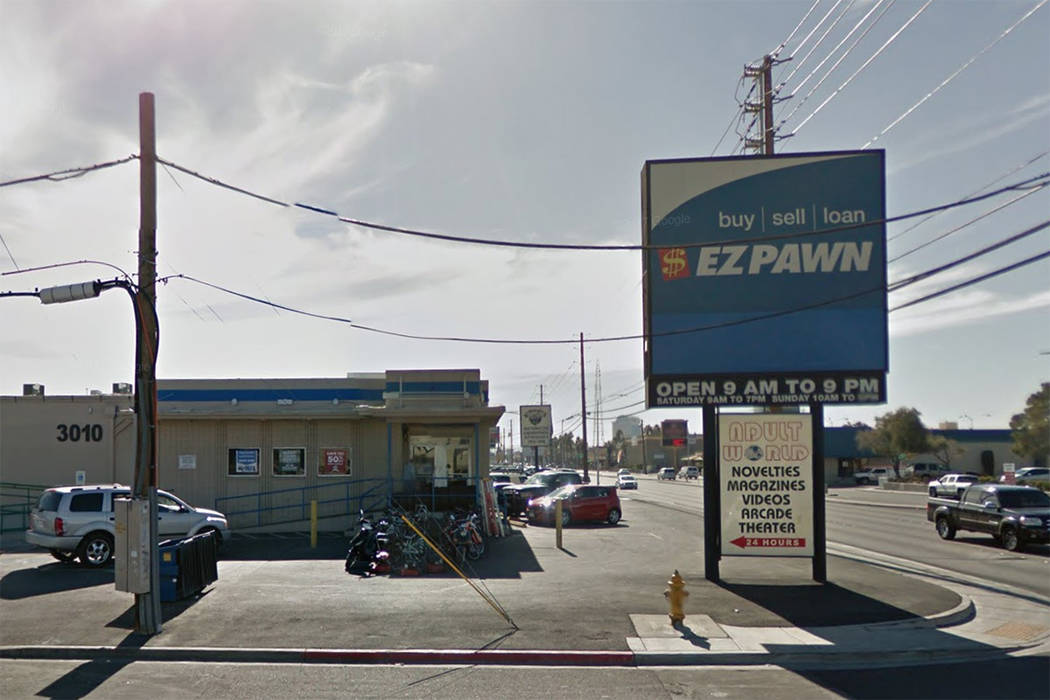 The EZ Pawn store at 3010 S. Valley View Blvd. is seen in a screenshot. (Google)