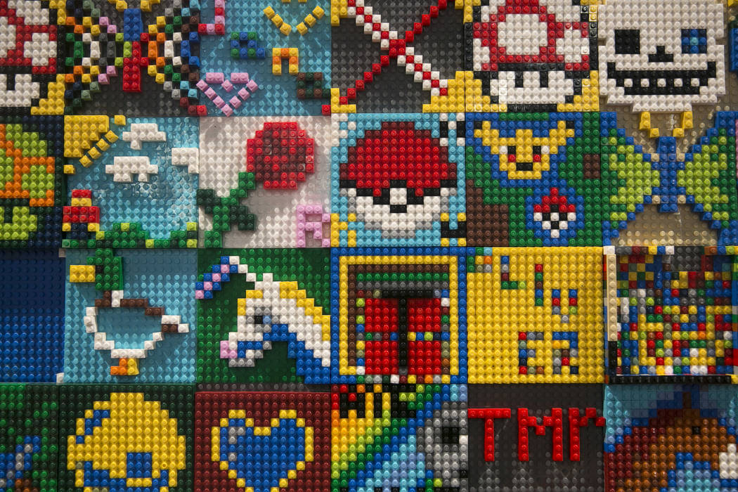 A LEGO tile wall during BrickFest at the Las Vegas Convention Center in Las Vegas on Saturday, Sept. 9, 2017. Gabriella Angotti-Jones Las Vegas Review-Journal @gabriellaangojo