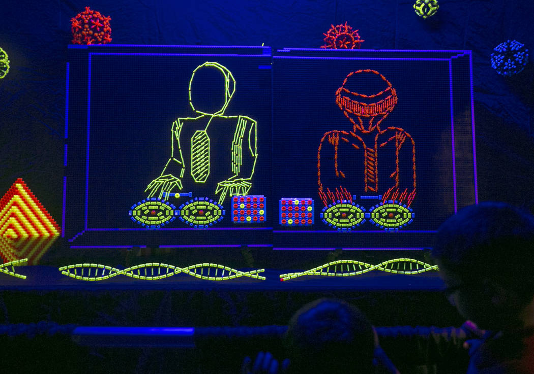 A Glow-in-the-dark LEGO Daft Punk piece during Brick Fest Live! the at the Las Vegas Convention Center in Las Vegas on Saturday, Sept. 9, 2017. Gabriella Angotti-Jones Las Vegas Review-Journal @ga ...