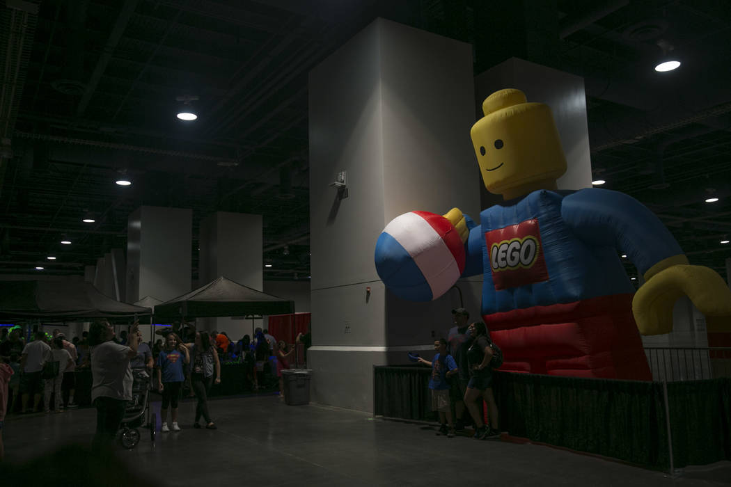 A giant inflatable LEGO character during Brick Fest Live! at the Las Vegas Convention Center in Las Vegas on Saturday, Sept. 9, 2017. Gabriella Angotti-Jones Las Vegas Review-Journal @gabriellaangojo