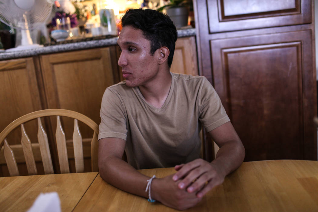 Deferred Action for Childhood Arrival program recipient Johan Gaytan during an interview in his Las Vegas home Thursday, Sept. 7, 2017. Joel Angel Juarez Las Vegas Review-Journal @jajuarezphoto