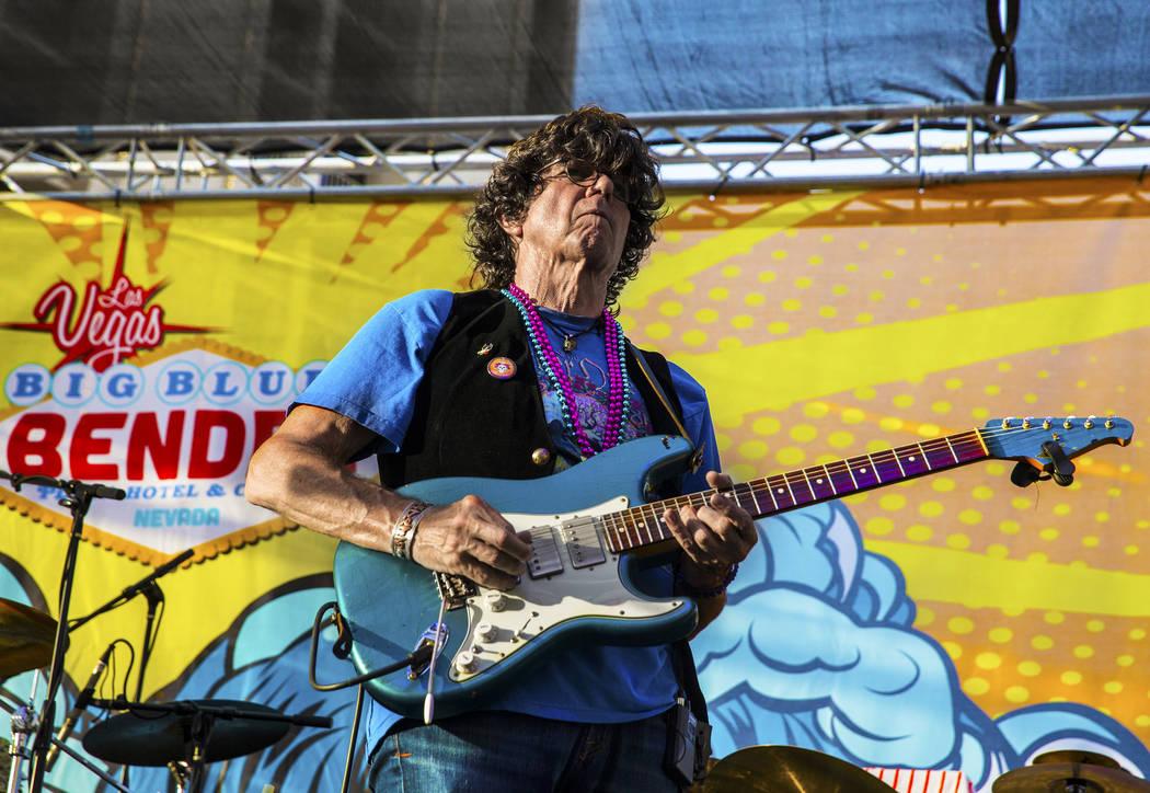 Grateful Blues performs during the Big Blues Bender at The Plaza hotel-casino on Thursday, September 7, 2017, in Las Vegas. Benjamin Hager Las Vegas Review-Journal @benjaminhphoto