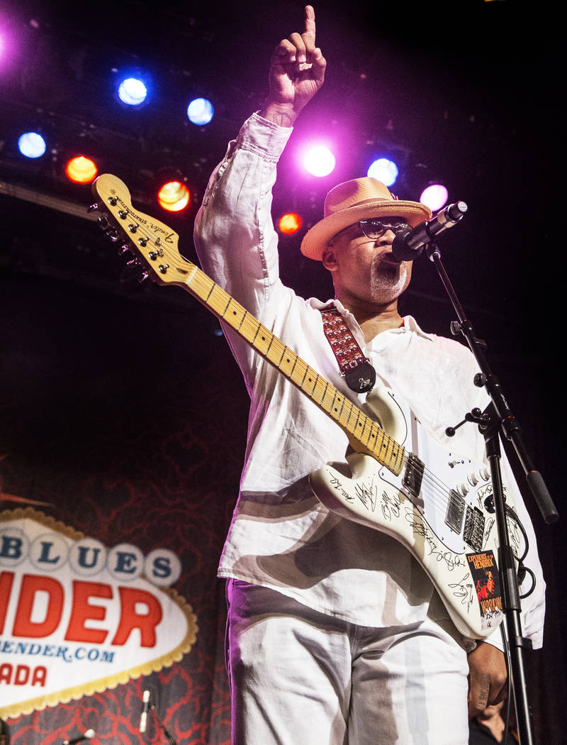 Toronzo Cannon performs during the Big Blues Bender at The Plaza hotel-casino on Thursday, September 7, 2017, in Las Vegas. Benjamin Hager Las Vegas Review-Journal @benjaminhphoto