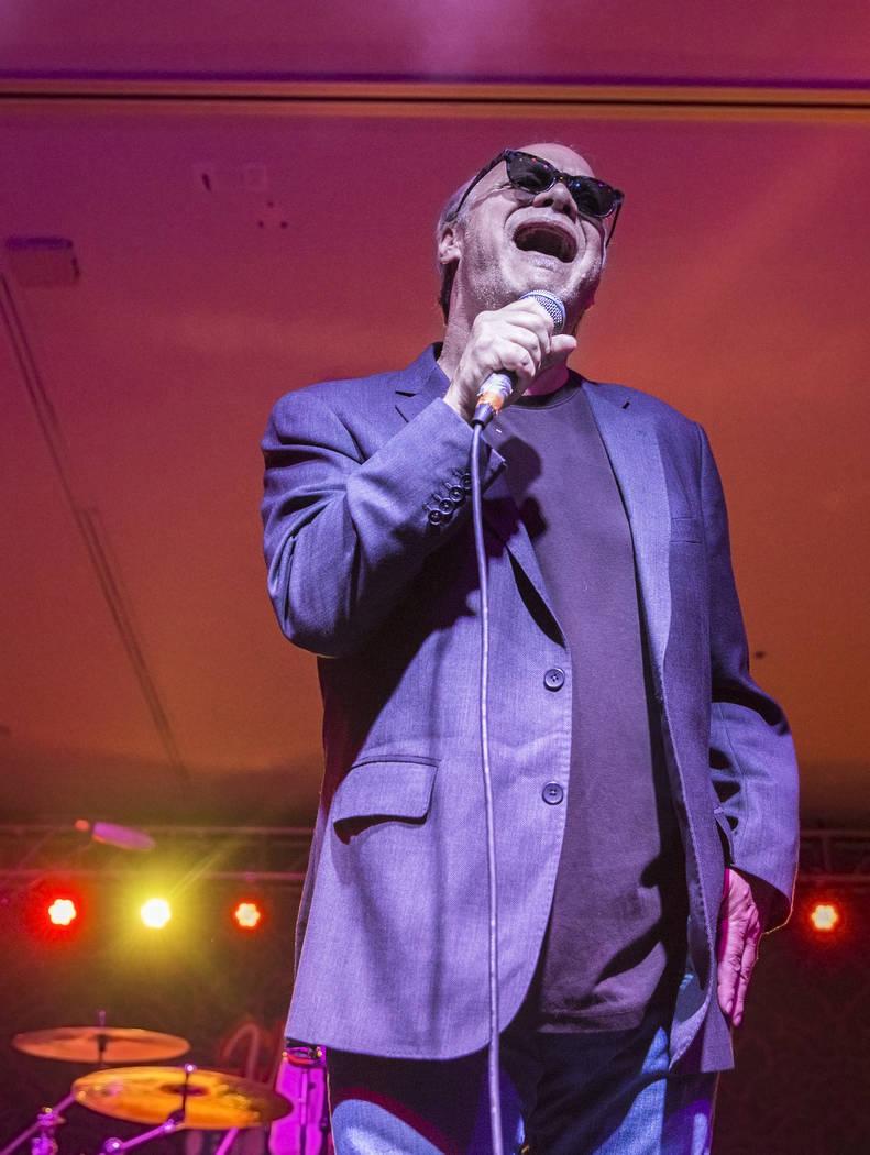 Curtis Salgado with Bender Brass performs during the Big Blues Bender at The Plaza hotel-casino on Thursday, September 7, 2017, in Las Vegas. Benjamin Hager Las Vegas Review-Journal @benjaminhphoto