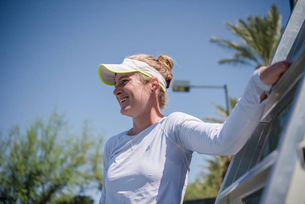 Allie Kiick trains at Red Rock Country Club on Monday, Sep. 11, 2017, in Las Vegas. Morgan Lieberman Las Vegas Review-Journal
