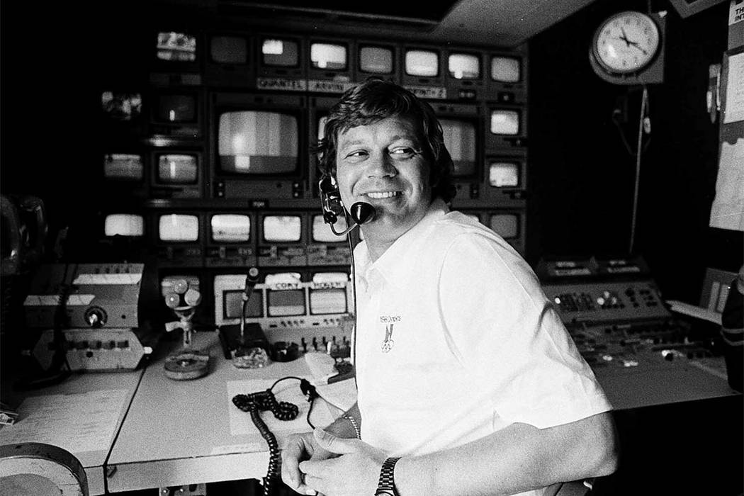 "This April 14, 1978, file photo shows TV producer Don Ohlmeyer at a mobile TV control center during a golf tournament in Rancho Mirage, Calif. Ohlmeyer, the ""Monday Night Football"" producer who ca ..."