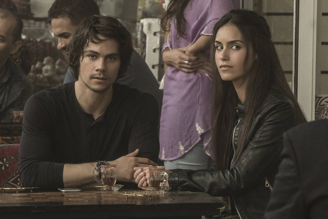 """Dylan O'Brien and Shiva Negar in """"American Assassin"""" to be released by CBS Films and Lionsgate. Christian Black"""