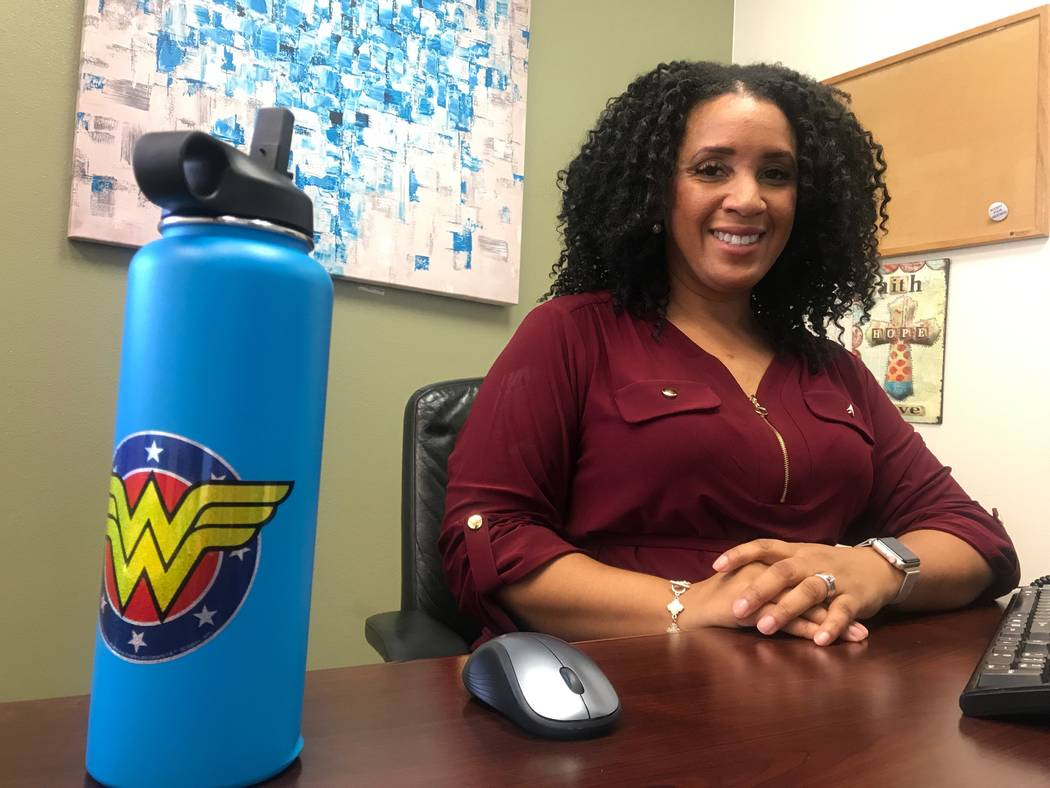 Olive Crest executive director Myesha Wilson poses for portrait on Sept. 1, 2017 at office, 4285 N. Rancho Drive. (Kailyn Brown/View) @KailynHype