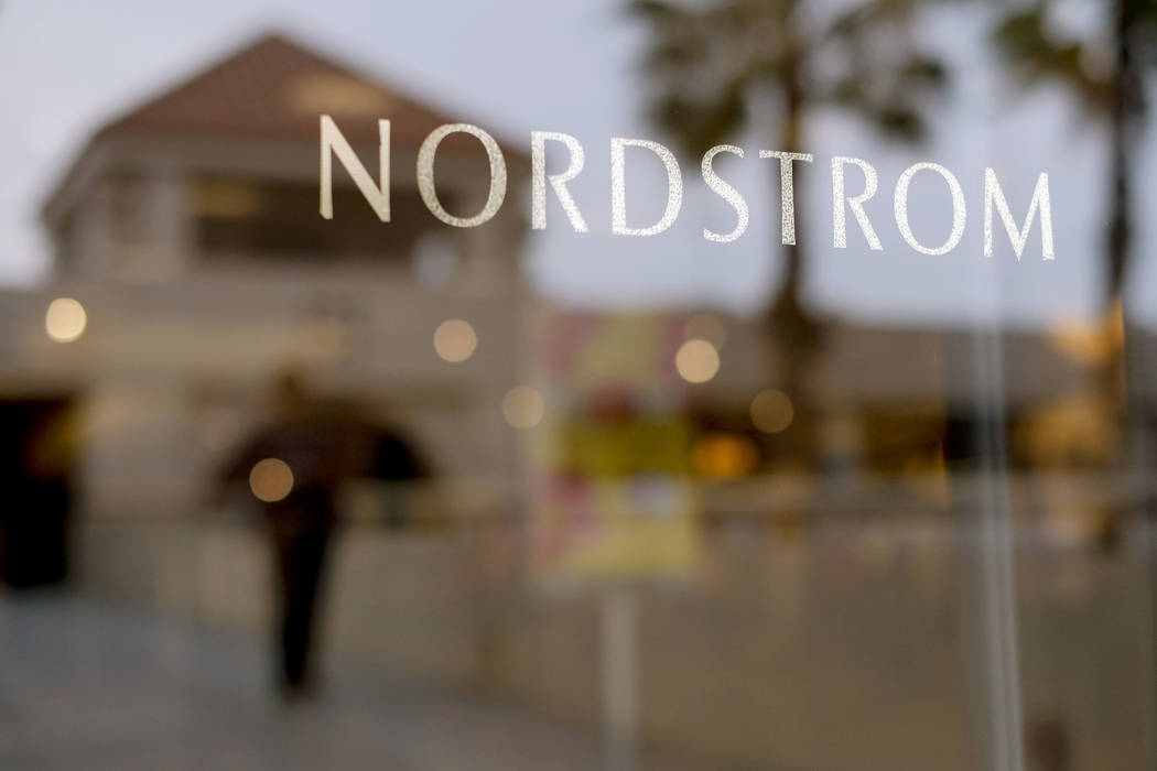 A Nordstrom sign is seen at a shopping mall in Brea, California. Nordstrom announced Monday, Sept. 11, 2017, that it will open a concept store in Los Angeles next month that doesn't have any inven ...
