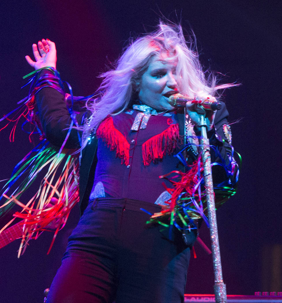 Kesha performs on Day 3 of the 2017 Firefly Music Festival at The Woodlands on Saturday, June 17, 2017, in Dover, Del. (Photo by Owen Sweeney/Invision/AP)