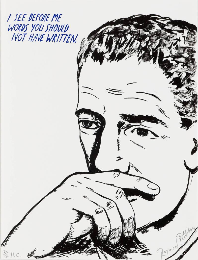 "MCQ Fine Art  Raymond Pettibon's ""I See Before Me ... """